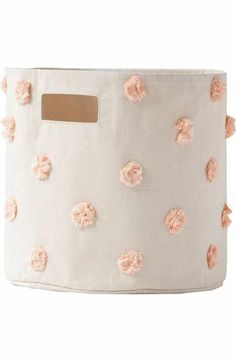 Free shipping and returns on Petit Pehr Mini Pompom Canvas Bin at Nordstrom.com. Declutter and update your décor with this durable cotton-canvas bin that holds toiletries, hair ribbons or smaller toys. Use in any room in the home to help keep your family organized.
