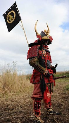 Red/Black Samurai armour. Inspiration for possible back tattoo. http://www.samoerai.name/index.html