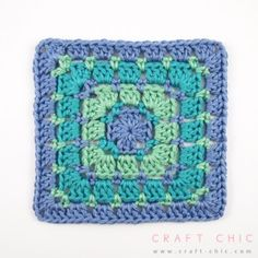 Craft Chic Tutorial: Block Stitch Square