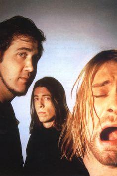 Krist Novoselic, Dave Grohl and Kurt Cobain #Nirvana