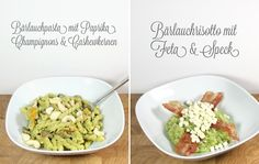 Bärlauchpasta & Bärlauchrisotto (for me without the bacon :D)