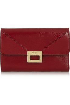 Tod's Glossed-leather wallet. Perfect gift for her.
