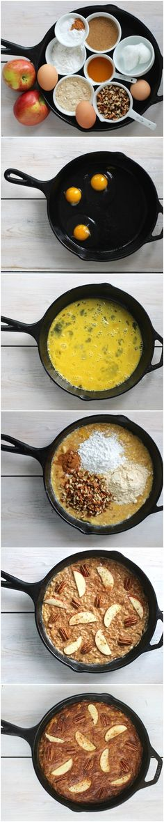 One-Pan Apple Pecan Coffee Cake  #justeatrealfood #paleohacks