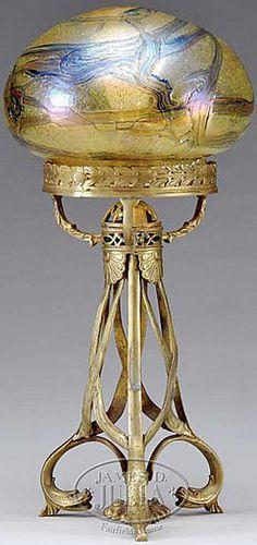 Art Nouveau Table Lamp by Loetz