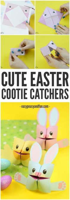 Easter Cootie Catchers – Bunny or Chick! Simple Origami for Kids to make this spring!