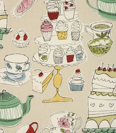 Love this http://www.justfabrics.co.uk/curtain-fabric-upholstery/linen-afternoon-tea-fabric/