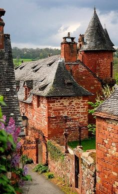 Collonges-la-Rouge in the Corrèze department in the Limousin region of France. Places Around The World, Oh The Places You'll Go, Places To Travel, Places To Visit, Around The Worlds, Limousin, Wonderful Places, Beautiful Places, Beautiful Pictures