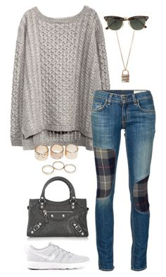 """""""Untitled #3168"""" by meandelstyle ❤ liked on Polyvore featuring rag & bone/JEAN, NIKE, Betsey Johnson, Balenciaga, Wet Seal and J.Crew"""