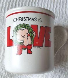 Ziggy Christmas Is Love Ceramic Mug (1979) #Ziggy