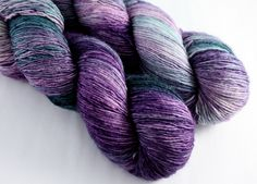 From lovely local dyer Black Trillium Fibre Studio comes a silky single ply fingering weight yarn with a slight halo, great shine, and beautiful drape! Prime is