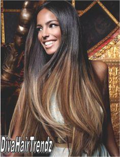 18 20 22 Brazilian Remy Straight Dark To Cinnamon Blonde Brown Ombre 3 Bundles