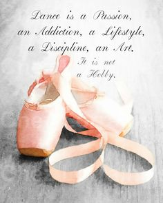 Dance is a Passion: A Ballet Pointe Shoe by ChezLorraines on Etsy