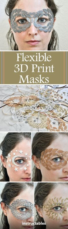 Learn how to make lightweight, flexible printed masquerade masks by printing on tulle fabric. This technique makes it look like the design is tattooed on your skin or floating on your face. 3d Printing Diy, Dark Spots On Skin, 3d Pen, 3d Laser, Impression 3d, 3d Prints, New Skin, Tulle Fabric, Diy Skin Care