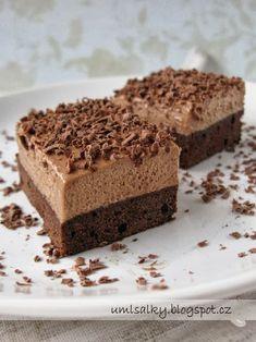 U mlsalky: Nutellovo - kávové řezy No Bake Cake, Nutella, Sweet Recipes, Tiramisu, Cheesecake, Food And Drink, Baking, Ethnic Recipes, Desserts