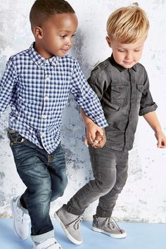 Buy Grey Long Sleeve Denim Shirt (3mths-6yrs) from the Next UK online shop