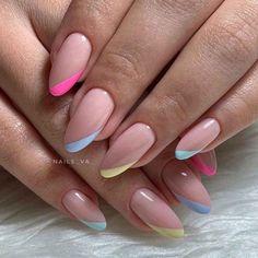 Nail Manicure, Diy Nails, Cute Nails, Acrylic Nail Designs, Nail Art Designs, Acrylic Nails, Nails Design, Stylish Nails, Trendy Nails