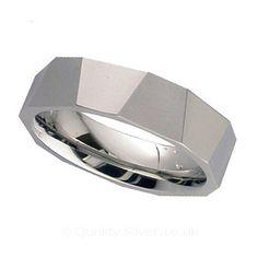 Geti Multi Faceted Titanium Ring #Geti #TitaniumWeddingRing