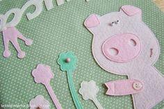 """Теперь и я их шью;) Текстильные кармашки-органайзер для детских мелочей. Подарок для девочки Алисы, которая питает нежные чувства к хрюшкам. Обожаю нестандартный девчонок!;) Цветовая гамма """"обморочны"""