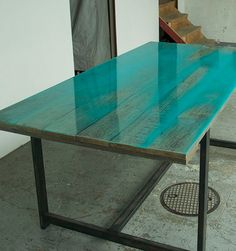 Laquered wood table by Jo Nagasaka