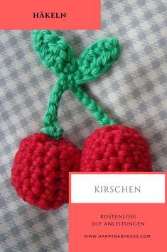 #KAUFLADEN ZUBEHÖR - #KIRSCHEN ___ ***  Kostenlose #DIY Anleitung auf Deutsch: #Basteln & #Häkeln für #Kinder   #Spiele & #Spielzeug für den #Kinderkaufladen oder die #Kinderküche   #Obst #Dekoration Kinderzimmer   happybabyness.com    ___ ***  Free #Crochet #Pattern #Tutorials: #Toys & #Games   #Toyshop for #Children - #Cherry #Cherries