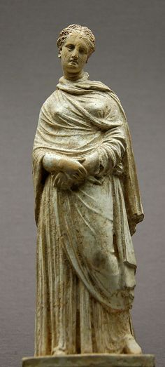 Mourning woman. Terracotta, made in Boeotia, ca. 300–275 BC.