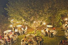 a night Wedding  | Garden wedding reception at night - Picture by Our Labor of Love ...