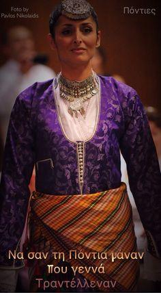 Πόντος Traditional Dresses, Greek Costumes, Greece, Sari, Pit Bulls, Collection, Quotes, Fashion, Outfits