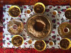Cuisine of Wadi (valley) Aldawasir Province, in Saudi Arabia, during winter.
