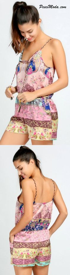 New Vintage Style Printed Romper. Get additional10% Off your first order at…