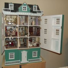 LARGE 12th SCALE DOLLS HOUSE GRAND MANSION BASEMENT 14 ROOMS DECORATED PROJECT