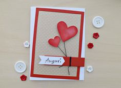 ANNIVERSARY CARD LOVE Card Handmade Greeting by UnaMattinaDiAprile