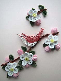 Bird and Apple Blossoms by HK Kusudama Lover, via Flickr