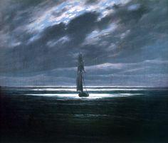 Bild: Caspar David Friedrich - Seestück bei Mondschein