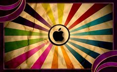 Vintage Apple Logo Background HD Wallpaper HD Wallpaper of