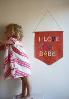 I Love You, Babe sign {sophie mccurley of too sweets patterns via charm stitch}