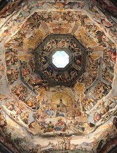 Inside the dome of Florence Cathedral . #firenze #florence #italy #architecture #florencecathedral #duomo #traveltuesday