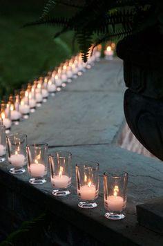Decoración de bodas con velas.