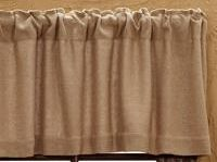 Beautiful Natural Burlap Window Treatments Burlap is 10 ounce home décor burlap Each panel is approx. 40 inches wide by chosen length-with a 3 inch pocket rod for hanging This listing is for 1 panel this is a nice quality burlap jute Burlap Window Treatments, Burlap Valance, Chevron, Burlap Art, Thing 1, Printing On Burlap, Primitive Kitchen, Eiffel, Shabby Chic Kitchen