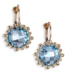 Anzie Dew Drop Sky Blue Topaz & 14K Yellow Gold Earrings