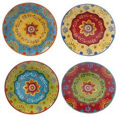 "Certified International - Tunisian Sunset 10.5"" Dinner Plates (Set of 4)"