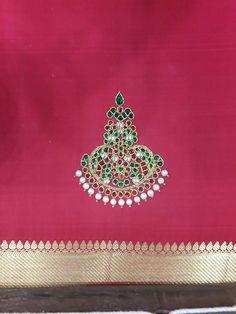 #Temple Jewellery #handembroidery #bridalblouse #kanchipuramsilk