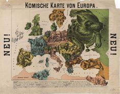 1888. Шуточная карта Европы. Германия