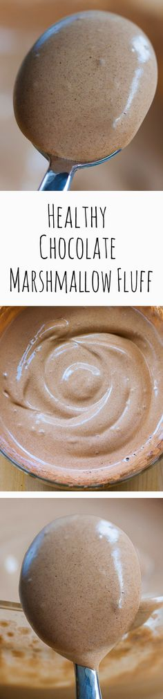 Chocolate Marshmallow Fluff, with NO corn syrup, and no unhealthy chemicals or powdered sugar, and no raw eggs! It's vegan