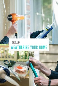 Learn to weatherize your home for winter/cold weather and save money on your energy bill. Learn more at diyz.com | DIY Projects for the Home