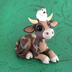 Cocoa Cow Sculpture by Dragons and Beasties