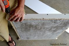 how to make your own concrete counter tops! very detailed step by step guide with pictures.