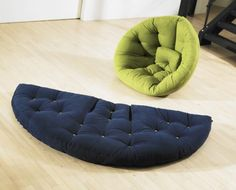 The Nest designed by Anders Backe. A Perfect Lounge Chair or Guest Bed For Space-Limited Apartments    http://www.coroflot.com/andbbac/Nest-Multifunctionel-futon-furniture