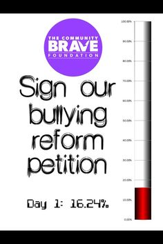 The Community Brave Foundation #BraveArmy raised 1,624 signatures at #fairday2013 - a fantastic effort! We now need your help in getting us to 10,000 in 2 months. Go to our #Facebook page and print off the petition (as many copies as you like!) then get as many people as you can to sign the petition and send them into us. We wanna be at 2,500 by the end if week 2! NSW Parliament requires 10,000 signatures for #AlexGreenwich to table bullying reform before parliament. Help us achieve this…