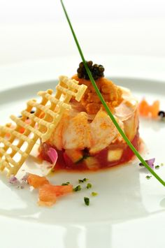 コーススタイル 次を期待させる豪華で美しい前菜 *結婚式おしゃれで豪華な料理のアイデア*