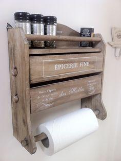 Wood Paper Towel Foil Wax Paper Saran Wrap Roll Holder